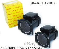 2x NEW Genuine BOSCH / JECS Z32 80mm Air Flow Meter AFM GTR RB26DETT R32-R34