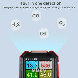 4 in 1 Gas Detector O2 H2S CO LEL EX Gas Test Meter Analyzer Air Quality Monitor