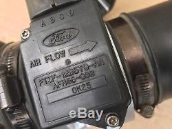 87-93 Ford Mustang Mass Air Flow Sensor Intake Air Tube Meter Bracket A9L A9P OE