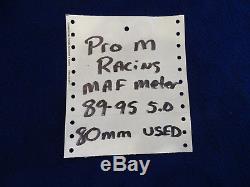 89 90 91 92 93 94 95 MUSTANG GT PRO-M 80mm MASS AIR FLOW SENSOR NICE USED