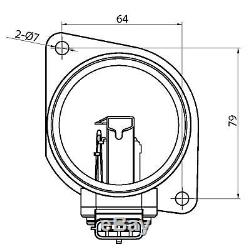 Air Flow Maf Mass Airflow Sensor For Renault Trafic 2.0 DCI 2006-2015 8200280060