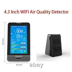 Air Quality Detector PM10 PM2.5 HCHO CO2 PM1.0 Humidity Monitor Detector Meter