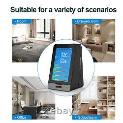 Air Quality Monitor Detector TOVC PM1.0 HCHO PM10 CO2 Humidity Monitor 4.3 Inch