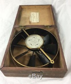 Antique Colliery Air Flow Meter, Casella London, Velometer, Anemometer, Lowne
