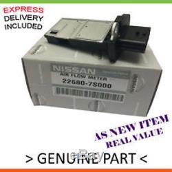 As New GENUINE Air Flow Meter For Nissan Navara Pathfinder Diesel D40M R51M