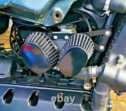 BMW K100 Air Flow Meter Adapter and bracket custom build Twin cone filter