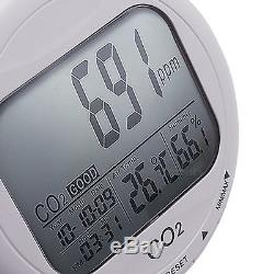 CO2 Carbon Dioxide Hygrometer Thermometer Data Logger Humidity Air Temp. Meter