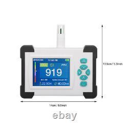 CO2 RH Air Quality Monitor Data Logger ppm Carbon Dioxide Detector Alarm Tool GZ