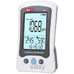 Carbon Dioxide Detector CO2 Air Temperature Humidity Date Logger Meter Monitor
