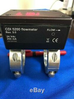 Compressed air and nitrogen flow meter for 1 1/4 schedule 40 pipe. 200 CFM Max