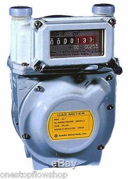 ½ Diaphragm gas meter, secondary billing, Natural Gas, LPG, Air, Nitrogen Pulsed