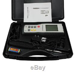 Digital LCD Hot Wire Thermal Anemometer Thermometer Air/Wind Speed Meter Tester