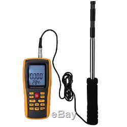 Digital Thermal Anemometer Meter Air Wind Speed Temperature Volume Flow TESTER
