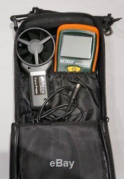 Extech AN100 Thermo Anemometer CFM/CMM Air Speed and Velocity Flow Meter 80-5906