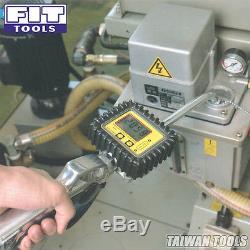 FIT Pro 50 Gallon Air Oil /Fluid Dispenser / Pump with Digital Flow Meter Oil Gun