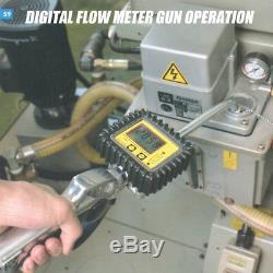 FIT TOLLS Pro 200L Air Oil /Fluid Dispenser / Pump with Digital Flow Meter Oil Gun