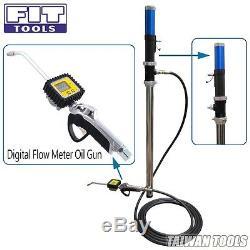 FIT TOOLS50Gallon Air Oil /Fluid Dispenser / Pump with Digital Flow Meter Oil Gun
