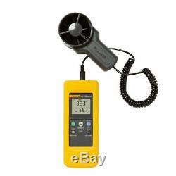 Fluke 925 impeller anemometer Meter, Wind speed air flow Velocity Temperatu
