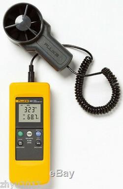 Fluke 925 impeller anemometer Meter Wind speed air flow Velocity Temperatu New