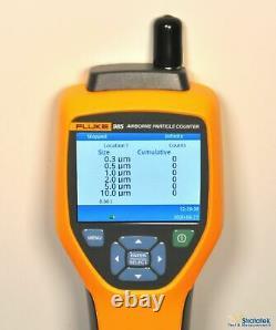 Fluke 985 Air Particle Counter IAQ 6 channels 0.3µm 0.5µm 1.0µm 2.0µm 5.0µm 10µm