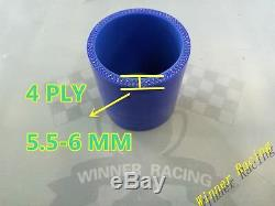 For Nissan 300ZX Z32 Silicone Induction Hose Air Filter to Flow Meter Blue 4-PLY