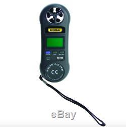 General Tools Digital Air Speed Flow Meter HVAC Tool Wind Sensor Airflow Tester