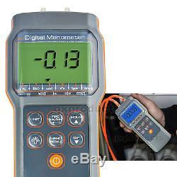 Handheld Pro Manometer Differential Air Pressure Gauge 11 Units Digital Tester