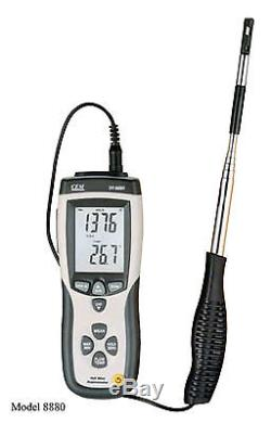 Hot Wire Thermo-Anemometer DT-8880 Air Flow Velocity Meter Temperature Tester