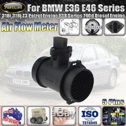 Mass Air Flow Sensor Meter for BMW E36 E46 316i 318i Z3 Petrol Engine E38 740d