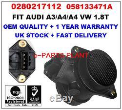 Mass Air Flow meter Sensor 0280217112 058133471A for AUDIA3 A4 A6 VW PASSAT 1.8T