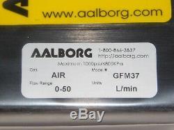 New Aalborg GFM37 Mass Flow Meter Gas Air Flow Range 0-50 Units L / min
