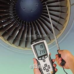 New Pro Hot Wire Anemometer Air Wind Flow Meter Thermometer