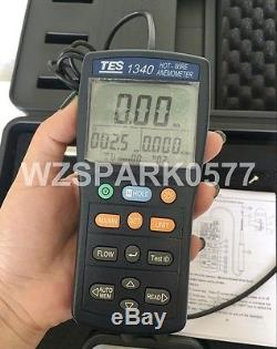 New TES-1340 Hot Wire Thermo Anemometer Digital Anemometer Air Wind Flow Meter