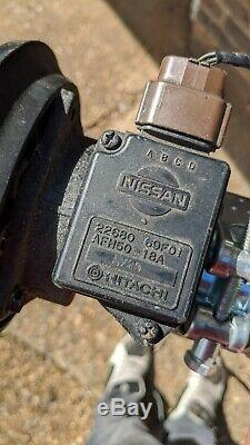 Nissan 200SX S14 S14a SR20DET MAF AFM Mass Air Flow Sensor Meter + Plug + Wiring