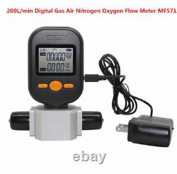 Professional Flowmeter Digital Gas Air Nitrogen Oxygen Mass Flow Meter 200L/min