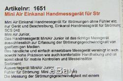 Schiltknecht MiniAir Junior Flügelradanemometer Flowmeter für Gase #D7665