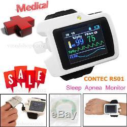 Sleep Apnea Meter Respiratory Monitor SpO2 Nose Air flow Software Analyzer Alarm