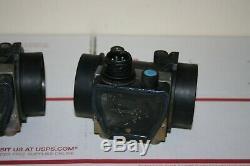 (TWO) 1991 BMW E32 750iL MAF Mass Air Flow Sensor Meter V12