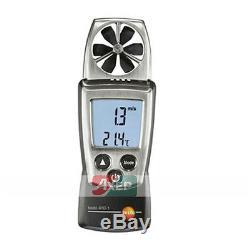 Testo 410-1 Digital Vane Anemometer Air Speed Velocity/Temperature Meter Tester