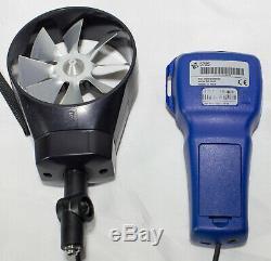 VelociCalc TSI 5725 Rotating Vane Anemometer Air Velocity Meter Temp Flow Rate