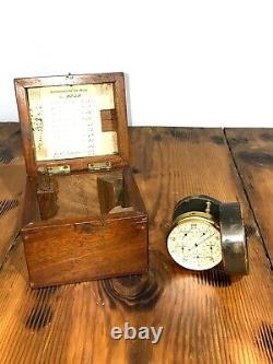 Vintage Antique 1924 W. & L. E. Gurley Air Flow Meter & Wood Wooden Box Tool