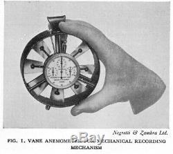 Vintage Negretti & Zambra London, Wind / Air Speed Flow Meter, Vane Anemometer