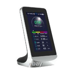 WIFI Air Quality Detector 4.3 LCD CO2 Dust PM2.5 PM1.0 PM10 HCHO TVOC Dete A3U7