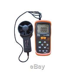 ZICO Thermo Anemometer Air Flow & Velocity CFM Gauge CMM Speed Meter vs AN100